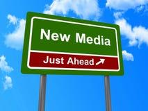 Nuovo segnale stradale di media Immagine Stock