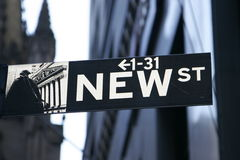 Nuovo segno della st - New York City Immagine Stock Libera da Diritti
