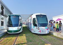Nuovo sistema ferroviario leggero in Taiwan Immagine Stock