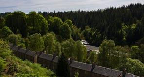 Nuovo sito del patrimonio mondiale di Lanark Immagine Stock Libera da Diritti