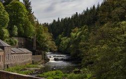Nuovo sito del patrimonio mondiale di Lanark Immagini Stock
