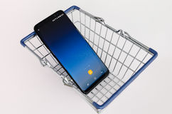 Nuovo smartphone dal 2017 Fotografia Stock Libera da Diritti