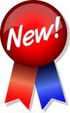 Nuovo! Tasto e nastro/ENV Immagine Stock
