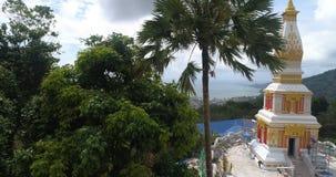 Nuovo tempio costruito a Phuket stock footage
