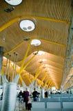 Nuovo terminale T4. Aeroporto del Barajas, Madrid. immagine stock libera da diritti