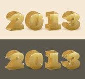 Nuovo trasparente dorato di 2013 anni. Fotografia Stock Libera da Diritti