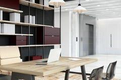 Nuovo ufficio o biblioteca Illustrazione di Stock