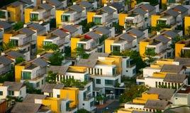 Nuovo urbano, casa della villa alla città di Ho Chi Minh Immagini Stock