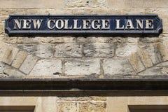 Nuovo vicolo dell'istituto universitario a Oxford Fotografie Stock