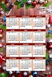 Nuovo Year& x27; calendario di s Fotografie Stock Libere da Diritti
