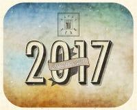 Nuovo Year& x27; s Eve Card Immagine Stock