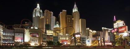 Nuovo York-Nuovo hotel di York di vista panoramica a Las Vegas Fotografie Stock Libere da Diritti