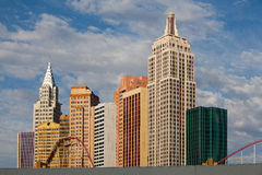 Nuovo York-nuovo York sulla striscia di Las Vegas Fotografie Stock