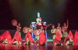 Nupcial procesión-ella danza popular aduana-china de la nacionalidad Imagen de archivo