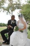 Nupcias de la boda Fotos de archivo libres de regalías