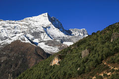 Nupla and tartikha peak and namchebazar from nepal Royalty Free Stock Photography