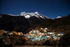 Nupla and tartikha peak and namchebazar Stock Images