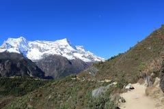 Nupla and tartikha peak  from nepal Royalty Free Stock Photography