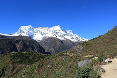 Nupla and tartikha peak  from nepal Royalty Free Stock Photo