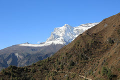 Nupla and tartikha peak  from nepal Royalty Free Stock Photos