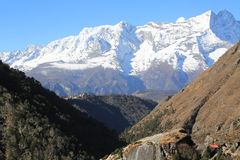 Nupla and tartikha peak  from nepal Stock Images