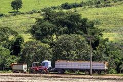 Soy harvesting Stock Image