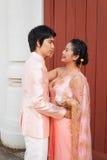 Nuptiale thaïlandais dans le costume thaïlandais de mariage Image stock
