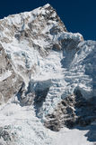 Nuptse в Гималаях Стоковые Фото