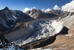Nuptse glacier from chhukhung Ri view point Stock Image