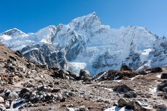Nuptse and Khumbu Glacier from Gorak Shep Stock Photography