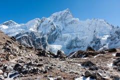 Nuptse and Khumbu Glacier from Gorak Shep. View of Nuptse from Khumbu Glacier near Gorak Shep, Solukhumbu, Nepal Stock Photography