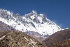 Nuptse, Lhotse, Everest - Népal Images stock