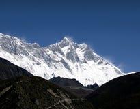 Nuptse, Lhotse, Everest - Népal Images libres de droits