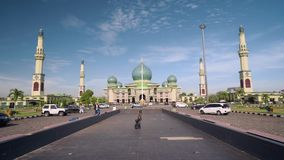 An-Nur清真大寺在北干巴鲁,印度尼西亚 股票录像