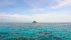 Nur łódź przy kotwicą zbiory