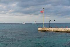 Nur łodzie blisko Cozumel, Meksyk fotografia stock