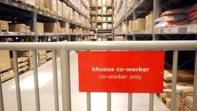 nur Arbeitskraft Lager-Co Stockbild