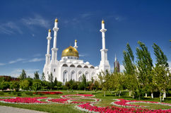 Nur Astana Mosque in Astana royalty-vrije stock fotografie