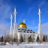 The NUR-ASTANA mosque in Astana / Kazakhstan Royalty Free Stock Photography