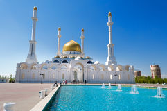 Nur-Astana Mosque. In Astana. It is the second largest mosque in Kazakhstan stock photography