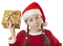 Nur ein Geschenk? Lizenzfreie Stockbilder