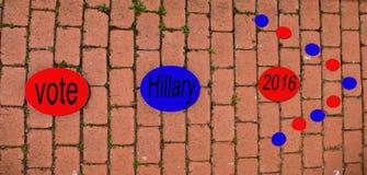Nur eine Möglichkeit, Abstimmung für Hillary Lizenzfreies Stockbild