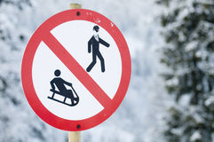 Nur für Skimitfahrer Stockfotos