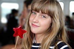 Nur glückliche kleine Mädchen Stockfotografie