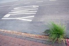 Nur schriftliches Wort auf der Straße Lizenzfreies Stockfoto