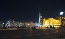 Nur-sultan, Astana, Kazachstan, kapitaal, Centraal-Azië royalty-vrije stock foto's
