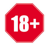 Nur 18+ Vektor 21+ Lizenzfreies Stockbild