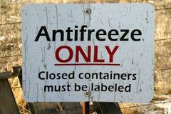 Nur Zeichen-Frostschutzmittel stockfoto
