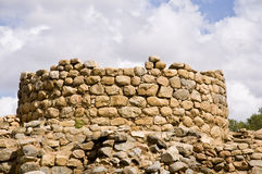 Nuraghe. Old building in a village nuragico stock photography