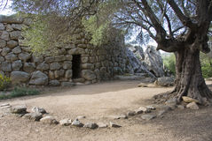 Nuraghe. Albucciu, one of the major archaeological monument of Sardinia. (Bronze Age Stock Photo
